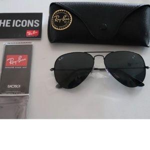 Rayban Aviator Sunglasses Black RB3025 58mm NEW